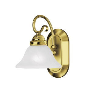 Coronado Polished Brass One Light Bath Light
