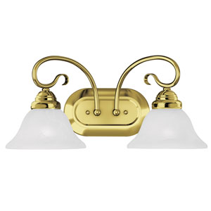 Coronado Polished Brass Two Light Bath Light