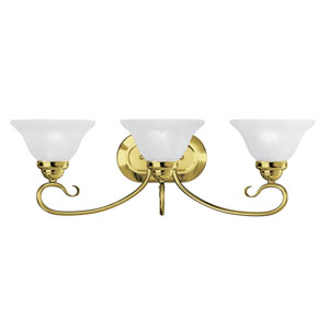 Coronado Polished Brass Three Light Bath Light