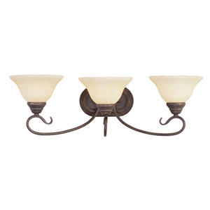 Coronado Bronze Three-Light Bath Fixture