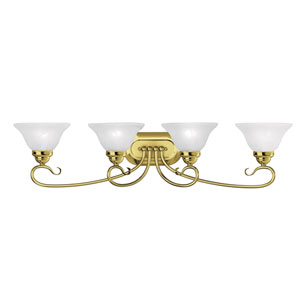 Coronado Polished Brass Four Light Bath Light