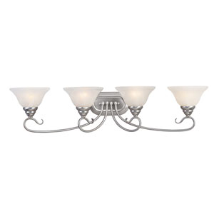 Coronado Nickel Four-Light Bath Fixture