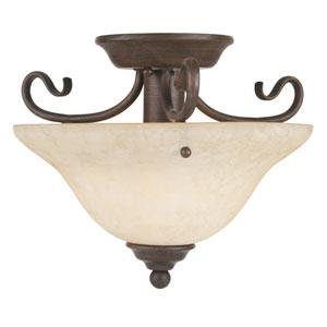 Coronado Small  Bronze Semi-Flush Ceiling Light