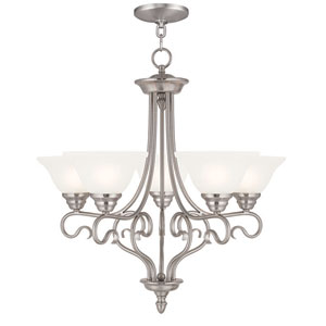 Coronado Brushed Nickel 25.5-Inch Five-Light Chandelier
