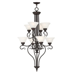 Coronado Bronze 26.5-Inch Eight-Light Foyer Chandelier