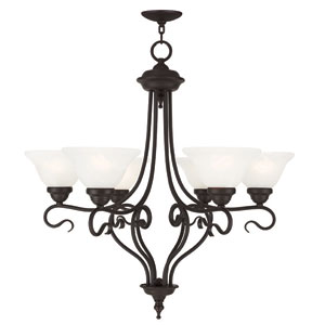 Coronado Bronze 28.5-Inch Six-Light Chandelier