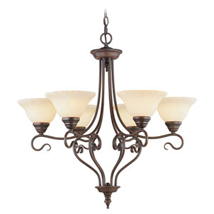 Coronado Bronze Six-Light Chandelier