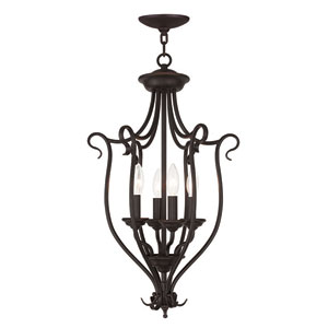 Coronado Bronze 15-Inch Four-Light Foyer Chandelier