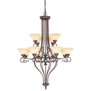 Coronado Bronze Twelve-Light Chandelier
