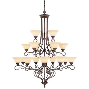 Coronado Bronze Eighteen-Light Chandelier