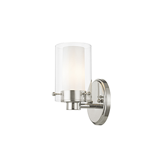 Manhattan Chrome One-Light Bath Fixture