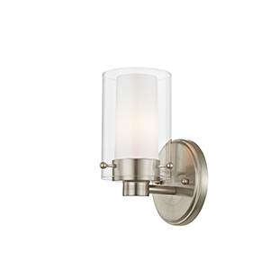Manhattan Brushed Nickel One-Light Bath Fixture