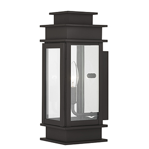 Princeton Bronze One-Light Outdoor Wall Lantern