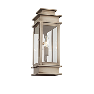 Princeton Vintage Pewter One-Light Outdoor Wall Lantern
