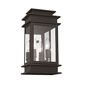 Princeton Bronze Two-Light 14-Inch Outdoor Wall Lantern