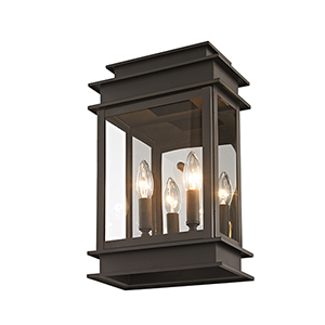 Princeton Bronze Two-Light 15-Inch Outdoor Wall Lantern