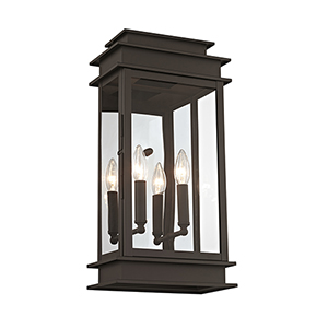 Princeton Bronze Two-Light 22-Inch Outdoor Wall Lantern