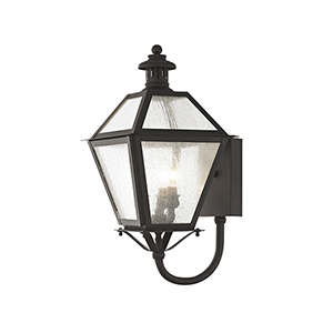 Waldwick Bronze Three-Light 23-Inch Outdoor Wall Lantern