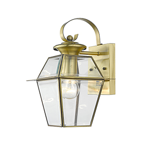 Westover Antique Brass One-Light Outdoor Wall Lantern