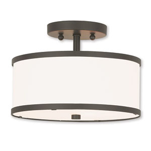 Park Ridge Bronze Two-Light Semi-Flush Mount
