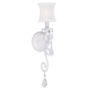 Newcastle White One-Light Wall Sconce