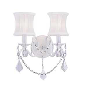Newcastle White Two-Light Wall Sconce