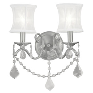 Newcastle Brushed Nickel Two-Light Wall Sconce