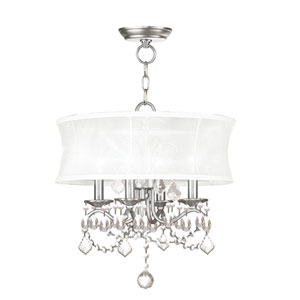 Newcastle Brushed Nickel Four-Light Convertible Semi-Flush