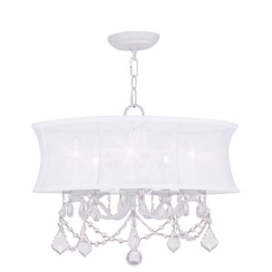 Newcastle White Five-Light Chandelier