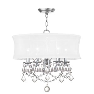 Newcastle Brushed Nickel Five-Light Pendant