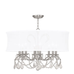 Newcastle Brushed Nickel Eight-Light Chandelier