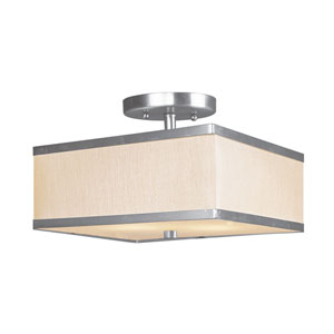Park Ridge Brushed Nickel Two-Light Semi-Flush