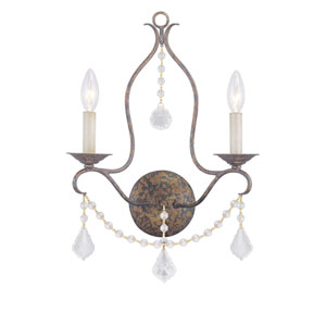 Chesterfield Venetian Golden Bronze Two-Light Wall Sconce