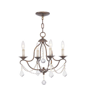 Chesterfield Venetian Golden Bronze Four-Light Chandelier