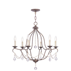 Chesterfield Venetian Golden Bronze Six-Light Chandelier
