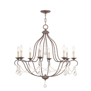 Chesterfield Venetian Golden Bronze Eight-Light Chandelier
