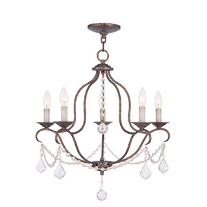 Chesterfield Venetian Golden Bronze Five Light Chandelier