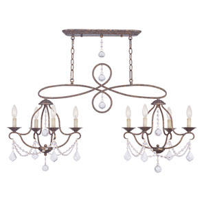 Chesterfield Venetian Golden Bronze Four-Light Island/Chandelier
