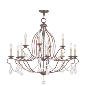 Chesterfield Venetian Golden Bronze Eight Light Chandelier