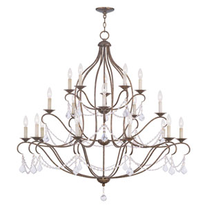 Chesterfield Venetian Golden Bronze 10 Light Chandelier