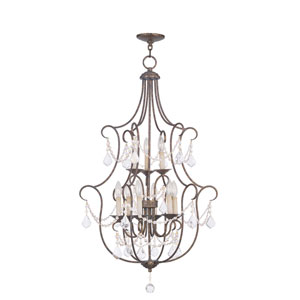 Chesterfield Venetian Golden Bronze Nine Light 43-Inch Foyer