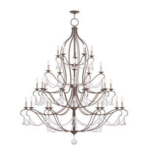 Chesterfield Venetian Golden Bronze 30 Light Chandelier