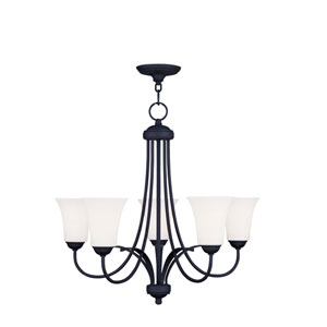 Ridgedale Black Five Light Chandelier