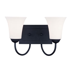 Ridgedale Black Two-Light Bath Fixture