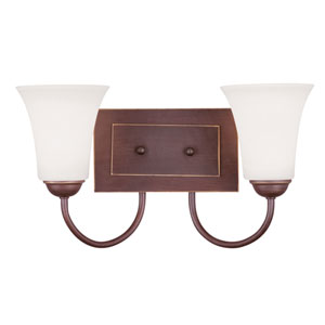 Ridgedale Vintage Bronze Two-Light Bath Fixture