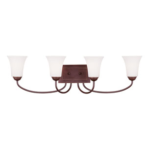 Ridgedale Vintage Bronze Four-Light Bath Fixture