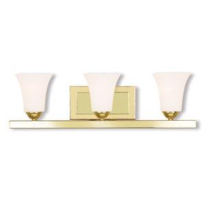 Ridgedale Polished Brass 25-Inch Three-Light Bath Vanity