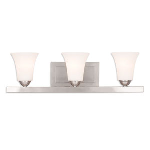 Ridgedale Brushed Nickel 25-Inch Three-Light Bath Vanity