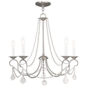 Pennington Brushed Nickel Five Light Chandelier