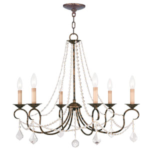 Pennington Venetian Golden Bronze Six Light Chandelier